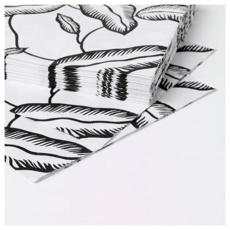 Салфетка бумажная АВСИКТЛИГ белый, черный лист фото 2
