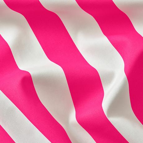 Ткань СОФИА в широкую полоску, ярко-розовый/белый фото 1