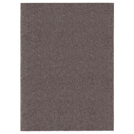 Ковер, длинный ворс АЛЛЕРСЛЕВ коричневый фото 2