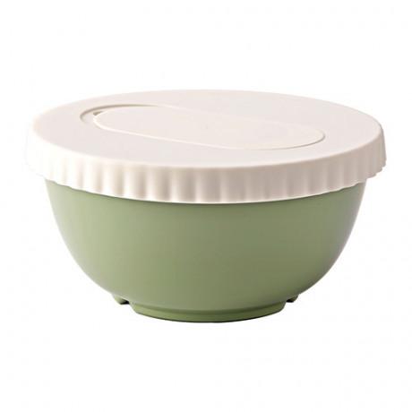 Миска с крышкой АЛЛЕХАНДА зеленый фото 0